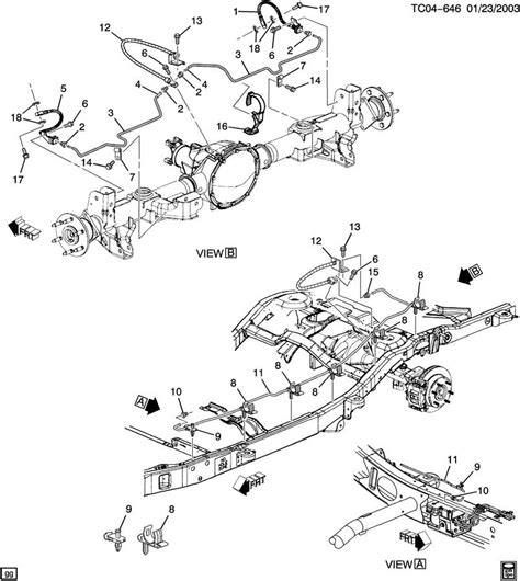 2000 silverado brake line diagram cadillac brake line