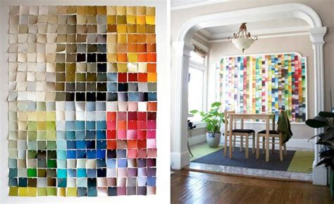 18 paint chip craft ideas kubby