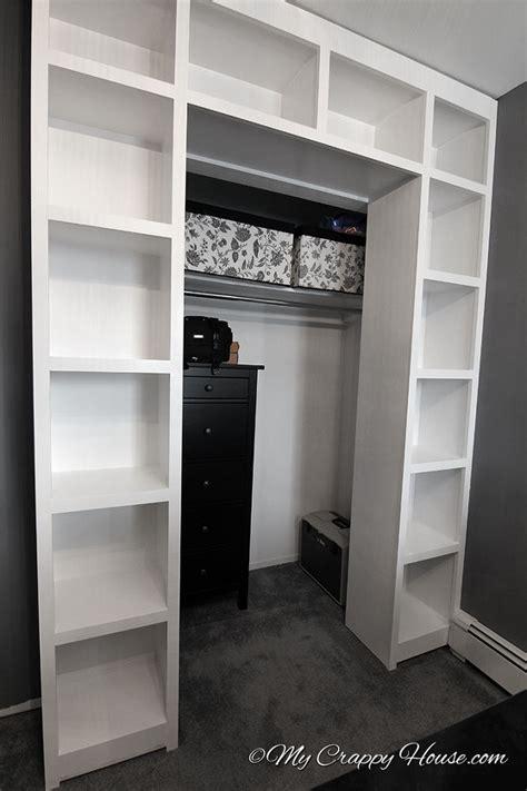 Bookshelf In Closet by Hometalk Built In Bookshelves Around A Closet