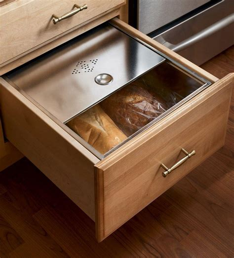 Kitchen Storage Cabinets With Drawers Base Bread Box Drawer Kitchens Classically Traditional Pinterest Bread Boxes Drawers And Box