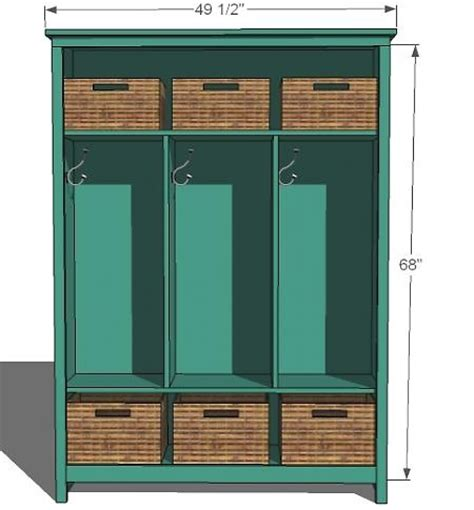 mudroom locker plans diy learn how to build locker style mudroom storage free
