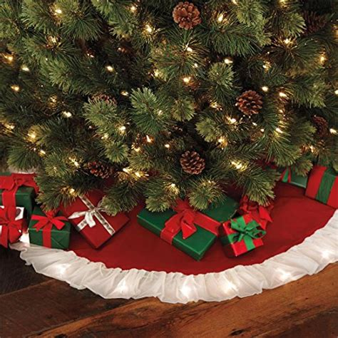 brylanehome pre lit christmas tree skirt christmasshack
