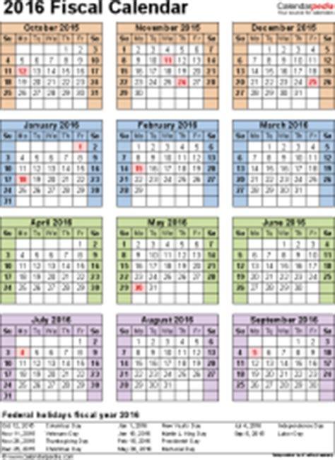 Calendar Quarter Fiscal Calendars 2016 As Free Printable Pdf Templates