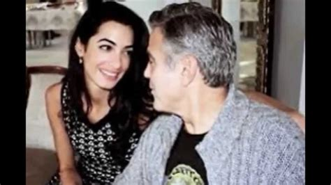 George Clooney Kisses For The Right Price by George Clooney And Amal Alamuddin Inside Their Story