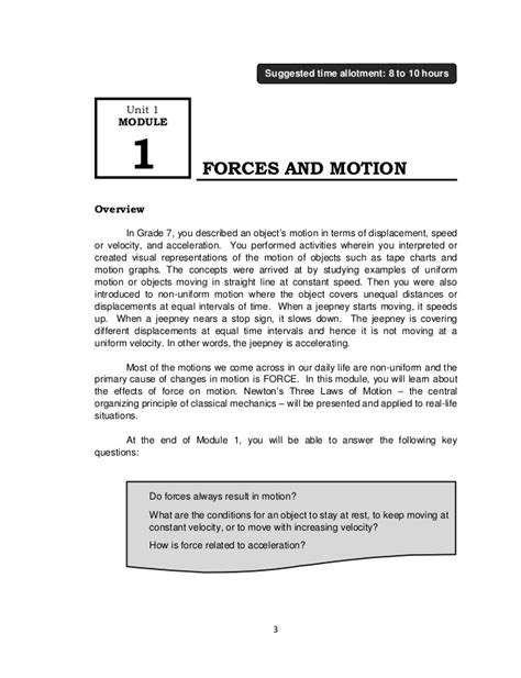 Science Adventure Motion And Energy Vol 4 fourth grade science and motion worksheets worksheets and motion grade on