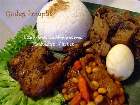 haramains kitchen nasi gudeg komplit