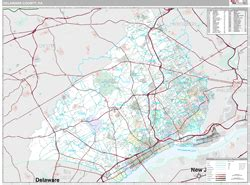 zip code map delaware county pa delaware county pa zip code wall map premium style by