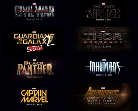 New Marvel Film For 2016 | marvel anuncia su fase 3 fotogramas