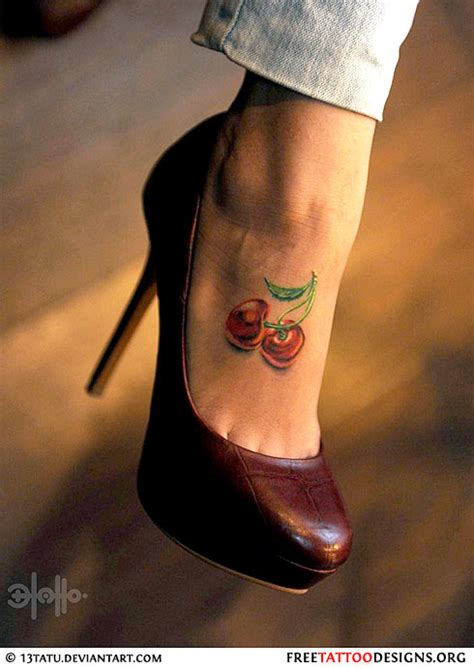 cherry tattoos 55 cherry designs their meaning