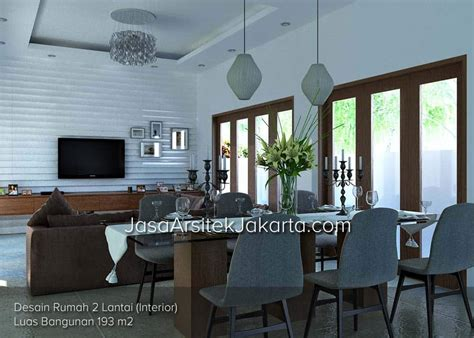 desain interior rumah luas desain rumah 2 lantai luas bangunan 193 m2 bp jacob di jakarta