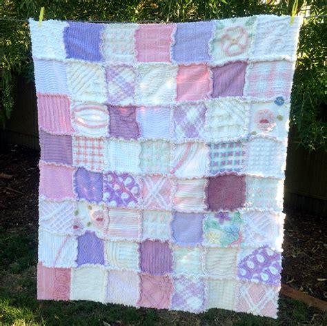 ooak vintage chenille rag patchwork quilt vintage