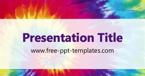 Tie Dye Ppt Template Tie Dye Powerpoint Template