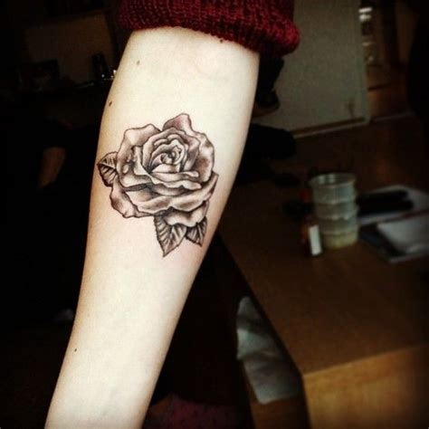 rose on arm tattoo forearm ideas