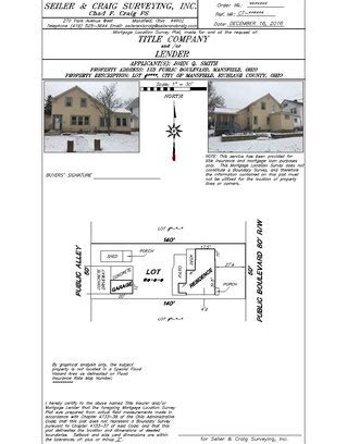 house survey for mortgage mortgage location surveys seiler and craig surveying inc