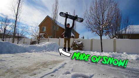 backyard snowboard r backyard snowboard jump youtube