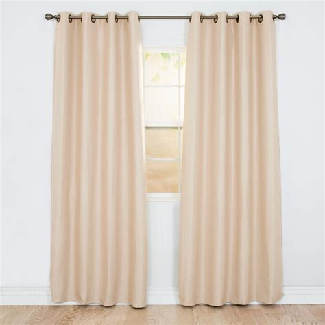 polyester blackout curtains lavish home blackout linen look chagne polyester