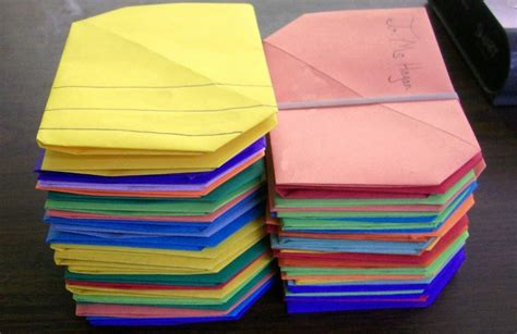 Origami Math Projects - origami letter project could incorporate math fractions