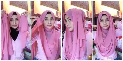 tutorial pashmina jadi hijab syar i cara memakai jilbab pashmina untuk kekantor info femina