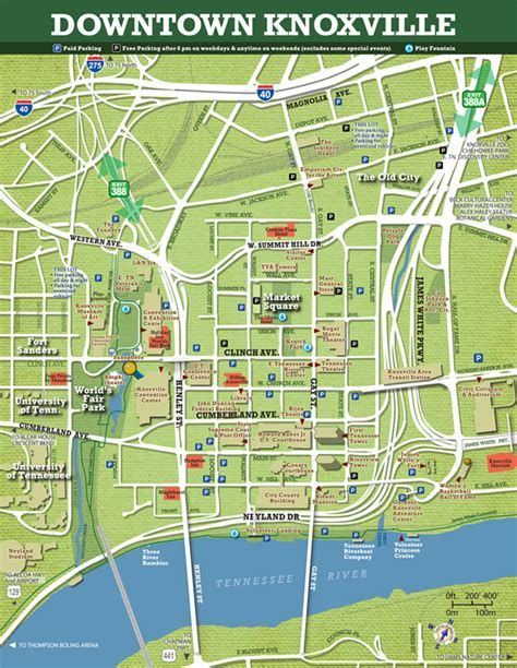 Map Of Knoxville Tennessee by Maps City Of Knoxville