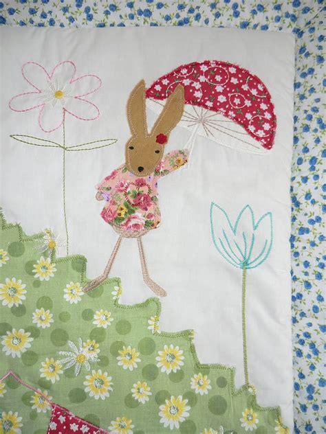 rabbit patchwork cot quilt by marquis dawe