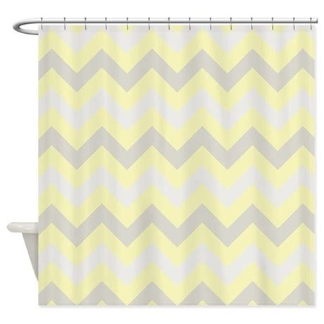 yellow and gray chevron shower curtain modern yellow grey zigzag shower curtain by zandiepants
