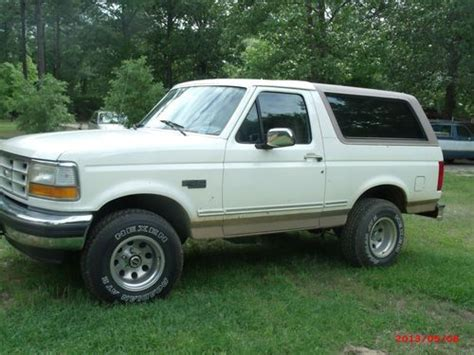 auto air conditioning service 1993 ford bronco parental controls purchase used 1993 ford bronco eddie bauer xlt 4x4 cream color 2 door sport in north south