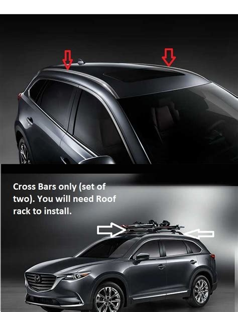 2011 Mazda Cx 9 Roof Rack by 2016 2017 Mazda Cx 9 Roof Rails And Crossbars