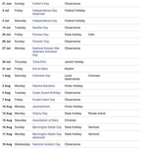 usa public holidays  calendar bastille day state holidays holiday