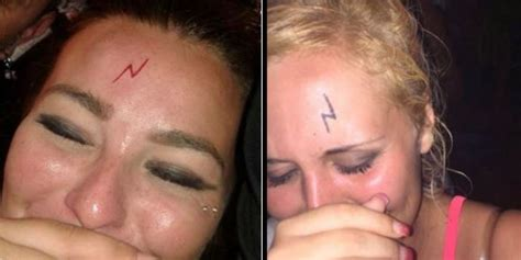 harry potter scar tattoo in magaluf are getting harry potter lightning