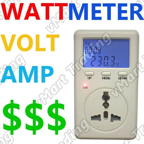 personal electricity meter watt voltage amp cost