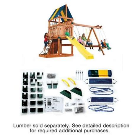 home depot swing set kits swing n slide playsets do it yourself alpine custom