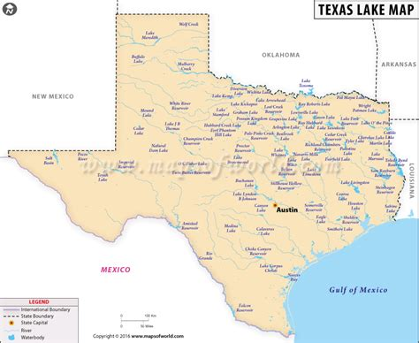 texas rivers and lakes map texas lakes map list of lakes in texas