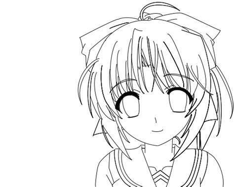 imagenes de nekos kawaii para dibujar anime girl lineart 2 by x lacrymosa on deviantart