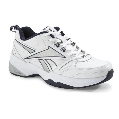 sears athletic shoes reebok s royal trainer white gray navy cross