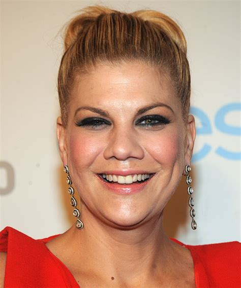 Kristen Johnston Straight Formal Updo Hairstyle   Dark