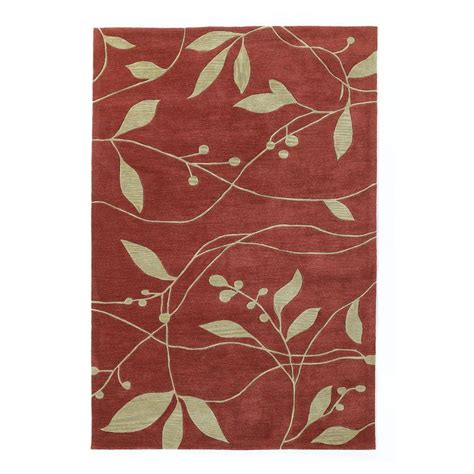 simple rugs kas rugs simple leaf rust 3 ft 3 in x 5 ft 3 in area rug bai283033x53 the home depot
