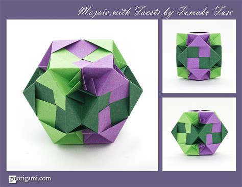 Unit Origami - mozaic with facets modular by tomoko fuse go origami