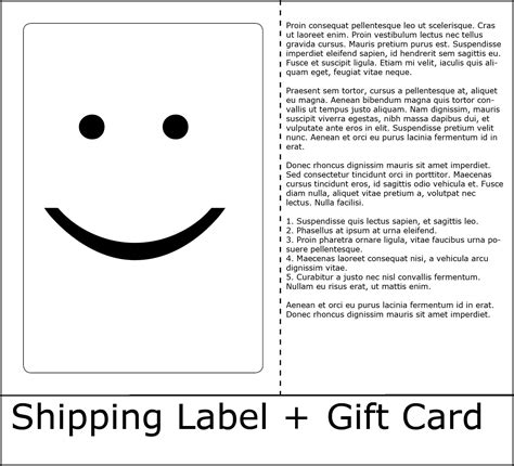 Can You Return Gift Cards - what can you do with an ls u part 7 shipping label and gift message card burris