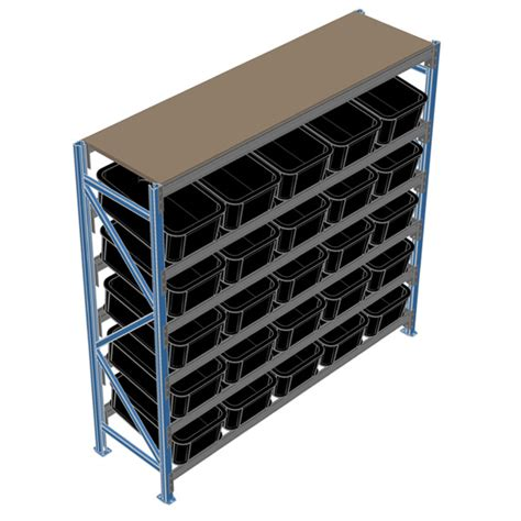 bin display racking system 620mm mr shelf shelving