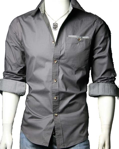 Black Gray Casual Shirt by Shirt 4858 Stylzzz