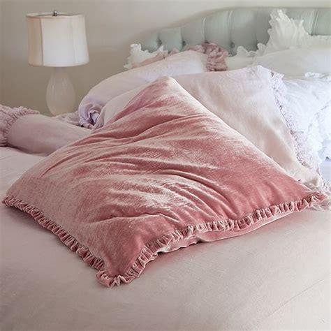 Velvet Pillow Shams by Pink Velvet Shams Pillow Talk