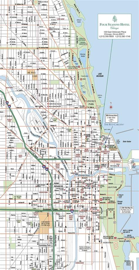chicago map us chicago map map of chicago united states