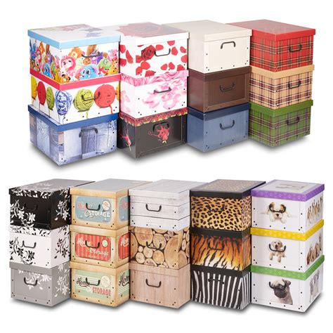 in collapsible storage box 3 underbed collapsible storage boxes cardboard with lids