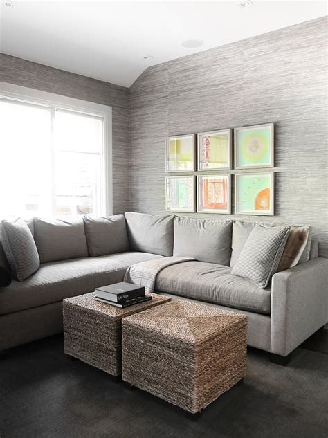 grey wallpaper ideas for living room 20 living rooms with the textural beauty of grasscloth