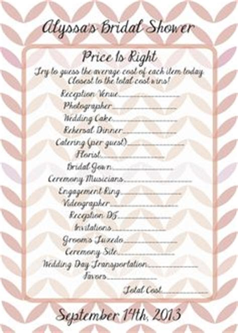 price is right bridal shower template 1000 images about bridal shower ideas on