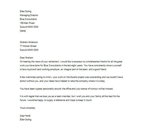 appreciation letter to an employee for his exemplary service thank you letter to employee 14 free word excel pdf