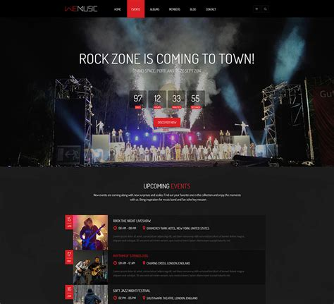 wordpress themes no pictures wemusic music band event wordpress theme nootheme