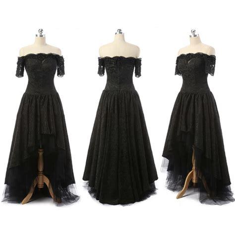 shoulder high  prom dresses asymmetrical