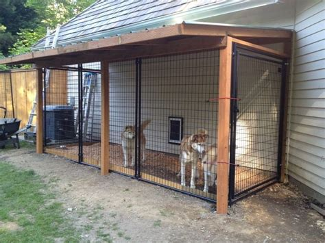 small covers dog run   side   house dog