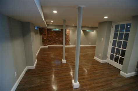 Center Hall Colonial Basement Renovation   Contemporary